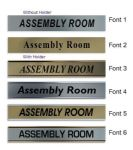 Assembly Room  Door Nameplate | slide in or fixed room sign
